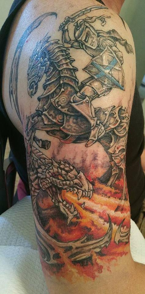 Shawn wilken saint george tattoo for St george tattoo